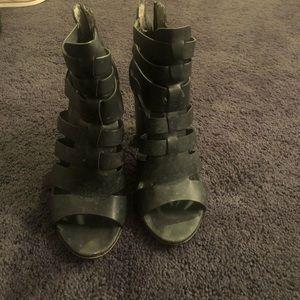 Sam Edelman Circus Caged black heeled sandal.
